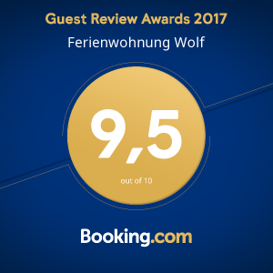 Booking.com Award Guest Review 9.5 out of 10