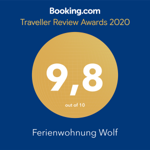 Booking.com Award Traveller Review 9.8 out of 10